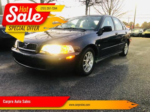 2004 Volvo S40 for sale at Carpro Auto Sales in Chesapeake VA