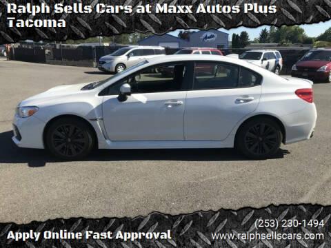 2018 Subaru WRX for sale at Ralph Sells Cars at Maxx Autos Plus Tacoma in Tacoma WA