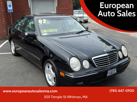 2002 Mercedes-Benz E-Class for sale at European Auto Sales in Whitman MA