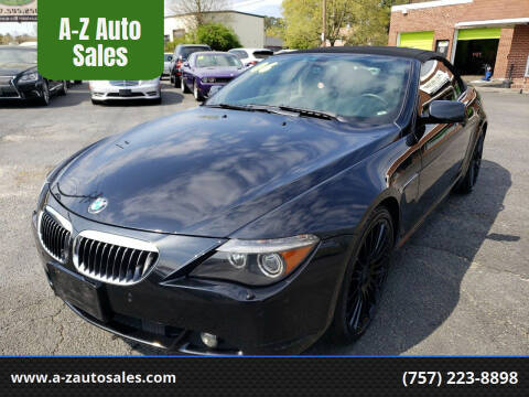2006 BMW 6 Series for sale at A-Z Auto Sales in Newport News VA