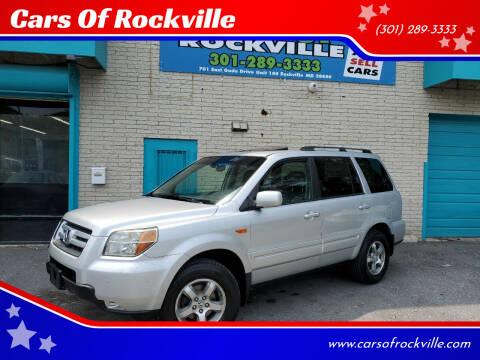 2006 Honda Pilot for sale at Cars Of Rockville in Rockville MD