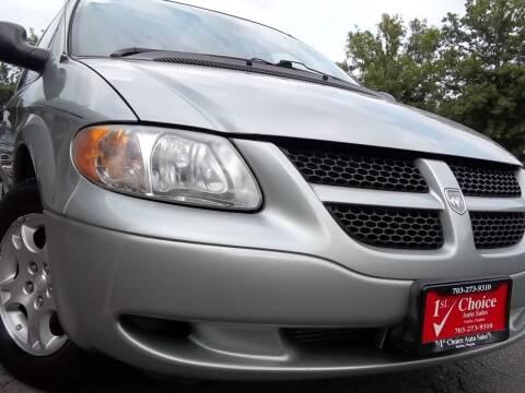 2004 Dodge Caravan for sale at 1st Choice Auto Sales in Fairfax VA
