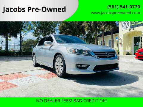 2013 Honda Accord for sale at Jacobs Pre-Owned in Lake Worth FL