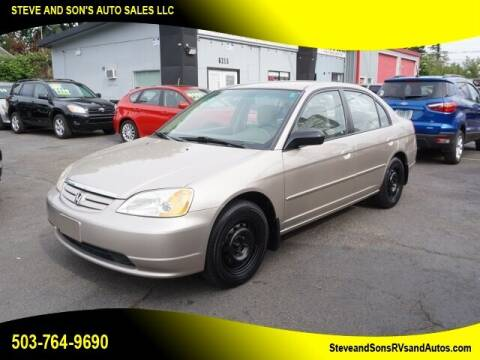 2002 Honda Civic for sale at Steve & Sons Auto Sales in Happy Valley OR