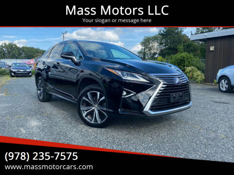 2016 Lexus RX 450h for sale at Mass Motors LLC in Worcester MA