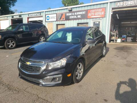 2015 Chevrolet Cruze for sale at B & A Automotive Sales in Charlotte NC