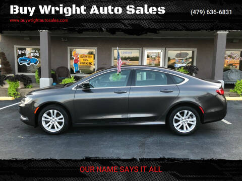 2016 Chrysler 200 for sale at Buy Wright Auto Sales in Rogers AR