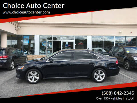 2013 Volkswagen Passat for sale at Choice Auto Center in Shrewsbury MA