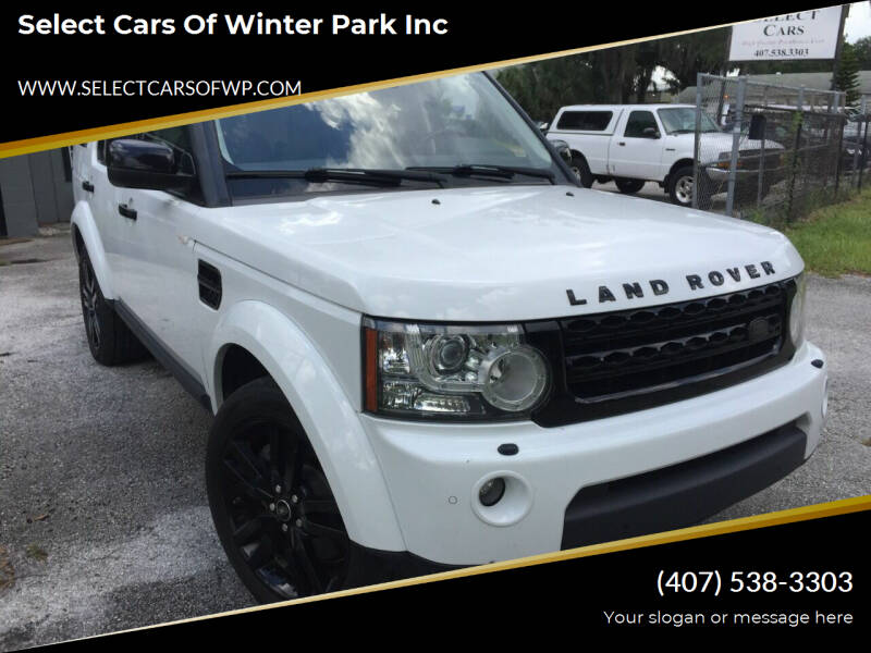 2013 Land Rover LR4 for sale at Select Cars Of Winter Park Inc in Orlando FL