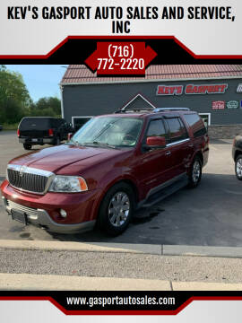 2004 Lincoln Navigator for sale at KEV'S GASPORT AUTO SALES AND SERVICE, INC in Gasport NY