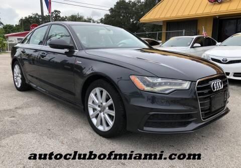 2012 Audi A6 for sale at AUTO CLUB OF MIAMI, INC in Miami FL