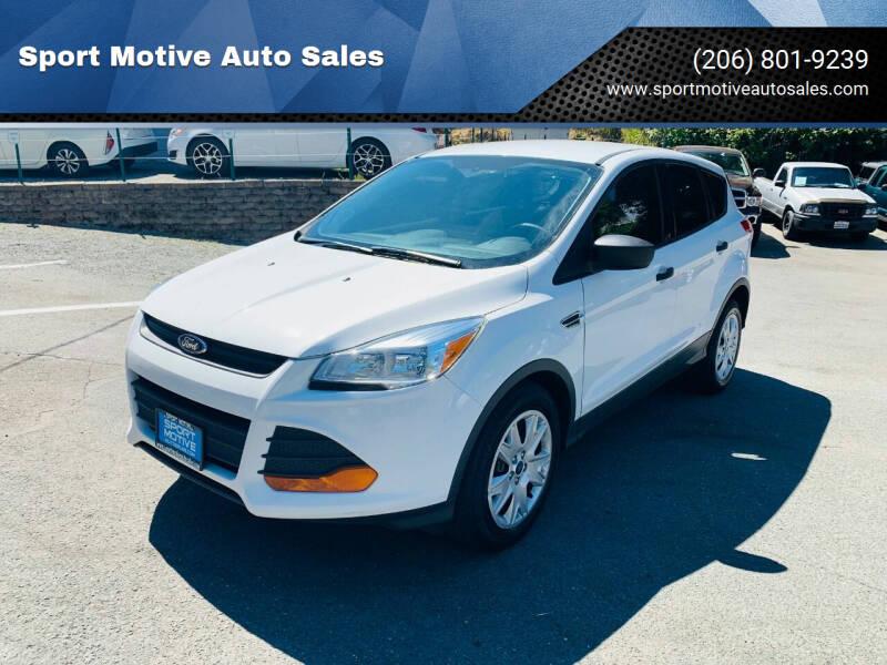2015 Ford Escape for sale at Sport Motive Auto Sales in Seattle WA