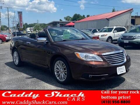 2012 Chrysler 200 Convertible for sale at CADDY SHACK CARS in Edgewater MD