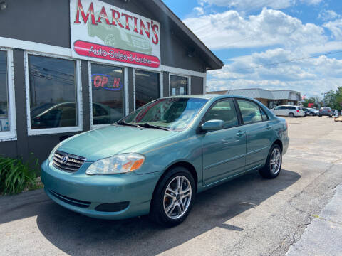 2006 Toyota Corolla for sale at Martins Auto Sales in Shelbyville KY