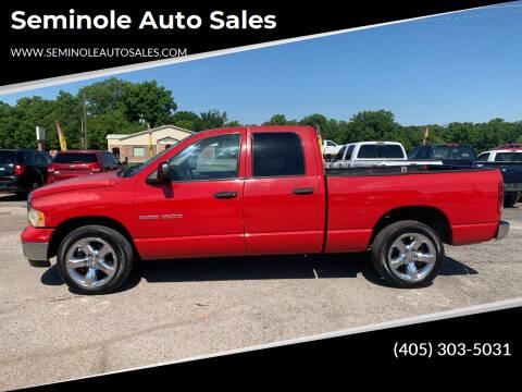 2003 Dodge Ram Pickup 1500 for sale at Seminole Auto Sales in Seminole OK