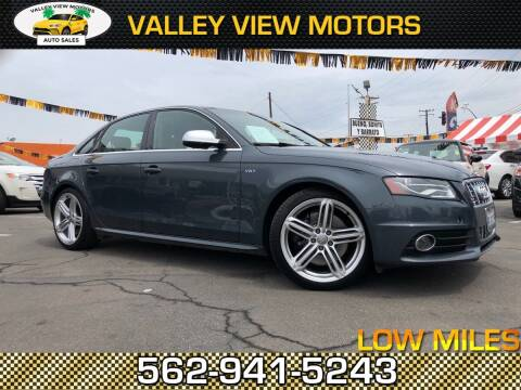 2010 Audi S4 for sale at Valley View Motors in Whittier CA