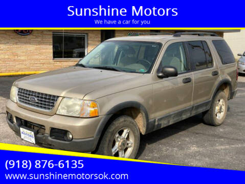 2003 Ford Explorer for sale at Sunshine Motors in Bartlesville OK