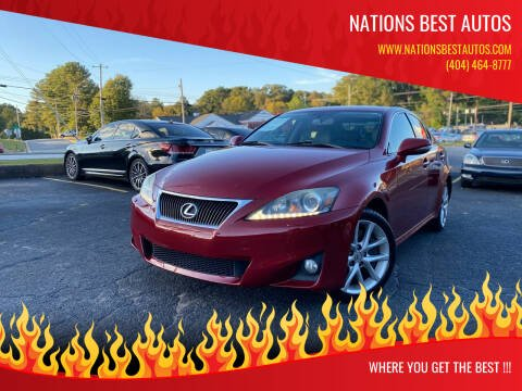 2011 Lexus IS 350 for sale at Nations Best Autos in Decatur GA