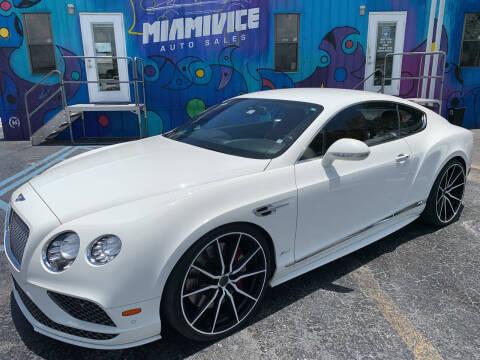 2017 Bentley Continental for sale at Miami Vice Auto Sales in Miami FL