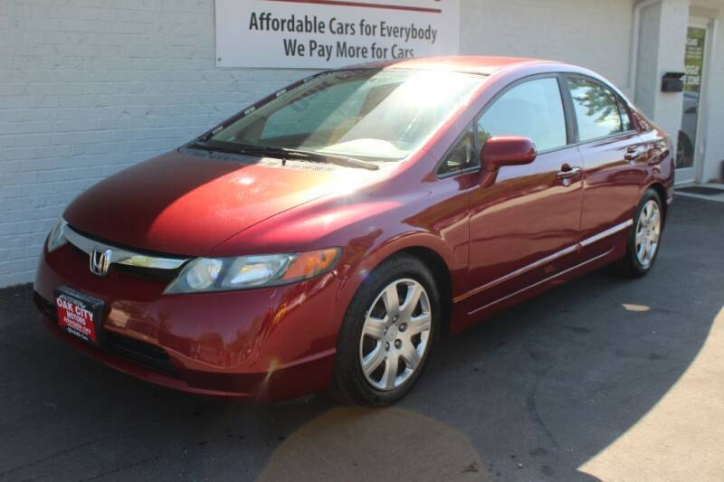 2008 Honda Civic for sale at Oak City Motors in Garner NC