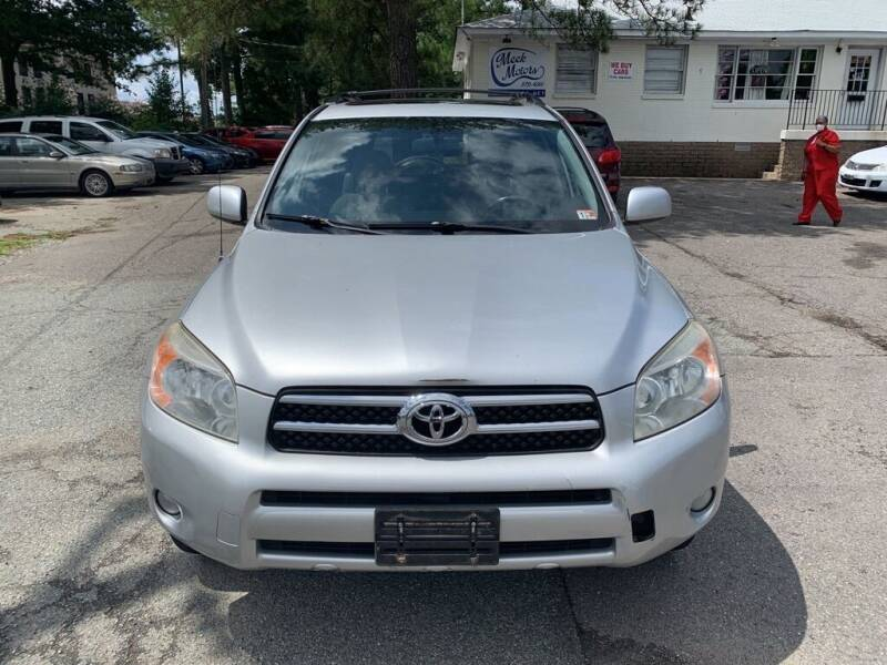2007 Toyota RAV4 for sale at MEEK MOTORS in North Chesterfield VA