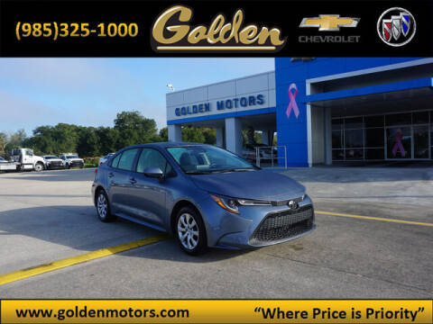 2020 Toyota Corolla for sale at GOLDEN MOTORS in Cut Off LA