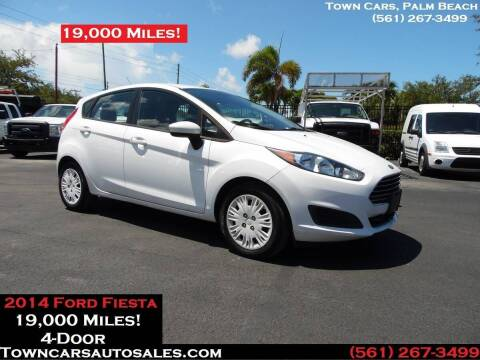 2014 Ford Fiesta for sale at Town Cars Auto Sales in West Palm Beach FL