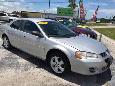 2004 Dodge Stratus for sale at Jack's Auto Sales in Port Richey FL