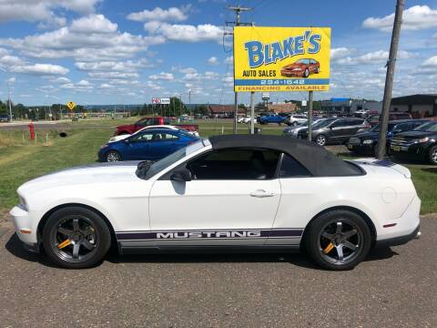 2012 Ford Mustang for sale at Blake's Auto Sales in Rice Lake WI