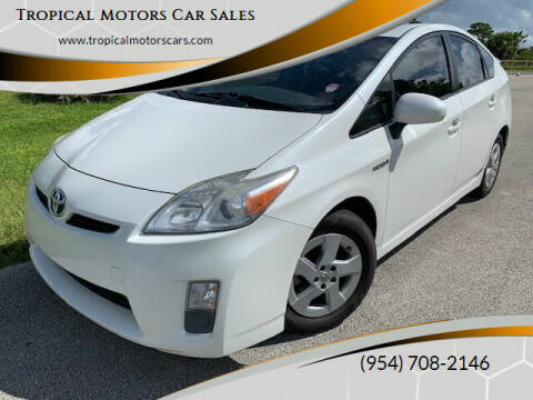 2011 Toyota Prius for sale at Tropical Motors Car Sales in Deerfield Beach FL