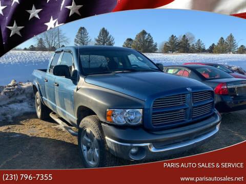2002 Dodge Ram Pickup 1500 for sale at Paris Auto Sales & Service in Big Rapids MI
