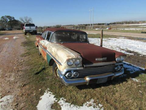 1958 Chevrolet Biscayne for sale at Hill Top Sales in Brenham TX