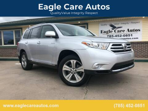 2012 Toyota Highlander for sale at Eagle Care Autos in Mcpherson KS