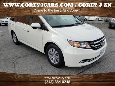 2016 Honda Odyssey for sale at WWW.COREY4CARS.COM / COREY J AN in Los Angeles CA
