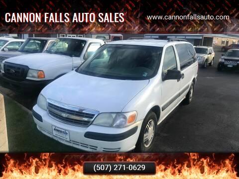 2004 Chevrolet Venture for sale at Cannon Falls Auto Sales in Cannon Falls MN