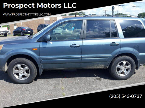 2007 Honda Pilot for sale at Prospect Motors LLC in Adamsville AL