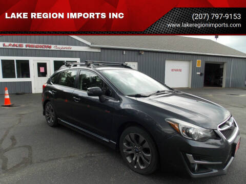 2015 Subaru Impreza for sale at LAKE REGION IMPORTS INC in Westbrook ME