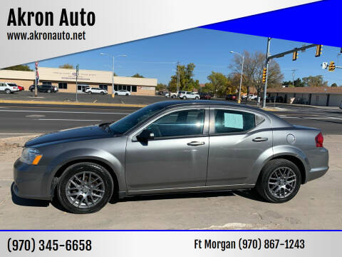 2013 Dodge Avenger for sale at Akron Auto - Fort Morgan in Fort Morgan CO