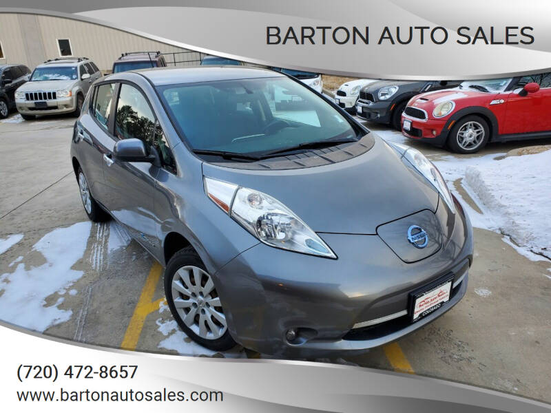 2015 Nissan LEAF for sale at Barton Auto Sales in Frederick CO