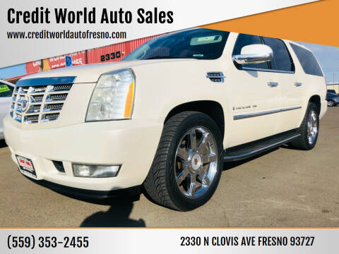 2009 Cadillac Escalade for sale at Credit World Auto Sales in Fresno CA