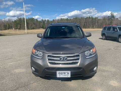 2012 Hyundai Santa Fe for sale at DOW'S AUTO SALES in Palmyra ME