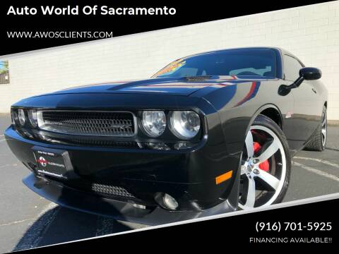 2012 Dodge Challenger for sale at Auto World of Sacramento Stockton Blvd in Sacramento CA