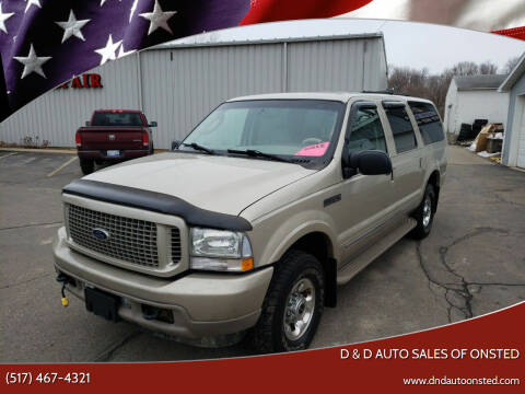 2004 Ford Excursion for sale at D & D Auto Sales Of Onsted in Onsted   Brooklyn MI