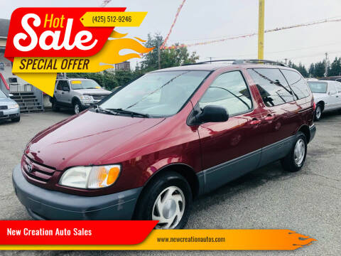 2001 Toyota Sienna for sale at New Creation Auto Sales in Everett WA