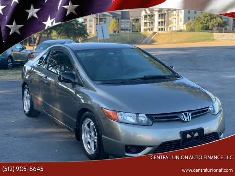 2007 Honda Civic for sale at Central Union Auto Finance LLC in Austin TX