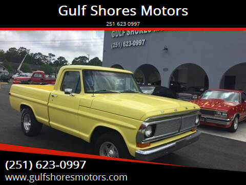 1970 Ford F-100 for sale at Gulf Shores Motors in Gulf Shores AL