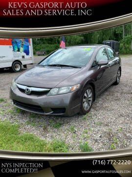 2010 Honda Civic for sale at KEV'S GASPORT AUTO SALES AND SERVICE, INC in Gasport NY