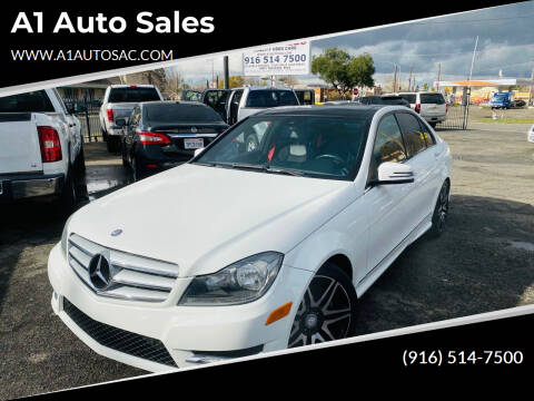 2013 Mercedes-Benz C-Class for sale at A1 Auto Sales in Sacramento CA