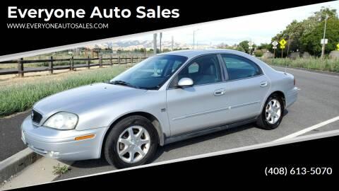 2001 Mercury Sable for sale at Everyone Auto Sales in Santa Clara CA