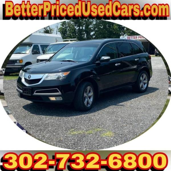 2012 Acura MDX for sale at Better Priced Used Cars in Frankford DE